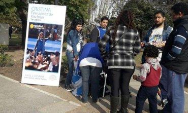 """""""La Cámpora"""" sale fuerte a pedir el voto por Cristina, pero se sigue despegando de los candidatos locales"""