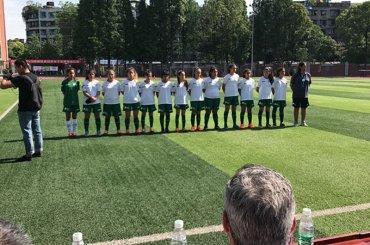 Las chicas de la Escuela Municipal de Fútbol Femenino jugaron su primer partido en China