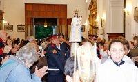 Con una masiva procesión y santa misa iniciaron las Fiestas Patronales de Pilar