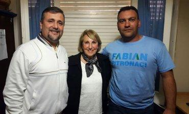 Fabián Pitronaci, Mirta Ortega Sanz, y Maximiliano Díaz, los primeros tres de otra de las nóminas de Unidad Ciudadana