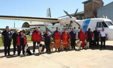 Caso Maldonado: La Brigada canina de Pilar; presente en el hallazgo de un cuerpo en el río Chubut