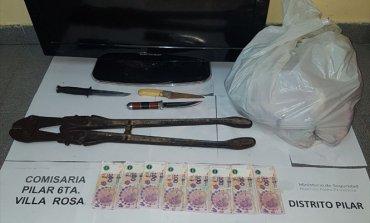 Detienen a delincuentes que robaron una carnicería: se habían llevado hasta el asado
