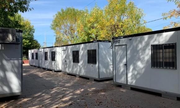 Llegaron las aulas modulares y se normalizarán las clases en la escuela 25