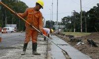 Funcionarios recorrieron las obras de repavimentación y ampliación de la Ex Ruta 8