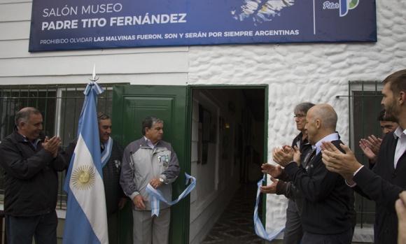 El Cenotafio de Malvinas sigue creciendo: Veteranos inauguraron el nuevo Salón Museo